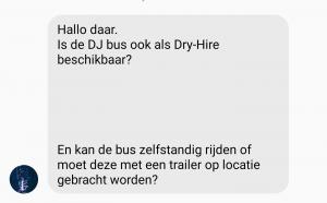 Bieden wij de DJBus ook Dry hire aan?